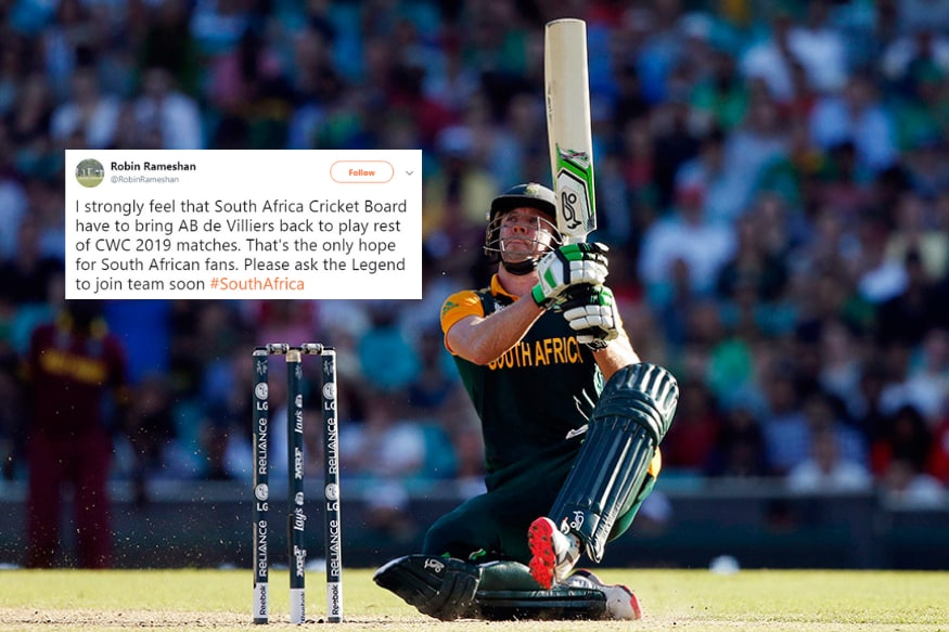 AB de Villiers Fans Want Him Back in South Africa Squad After