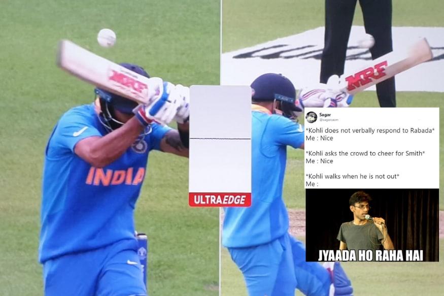Virat Kohli Walks Off Despite Being Not Out But Cricket Fans Stay Back For Memes