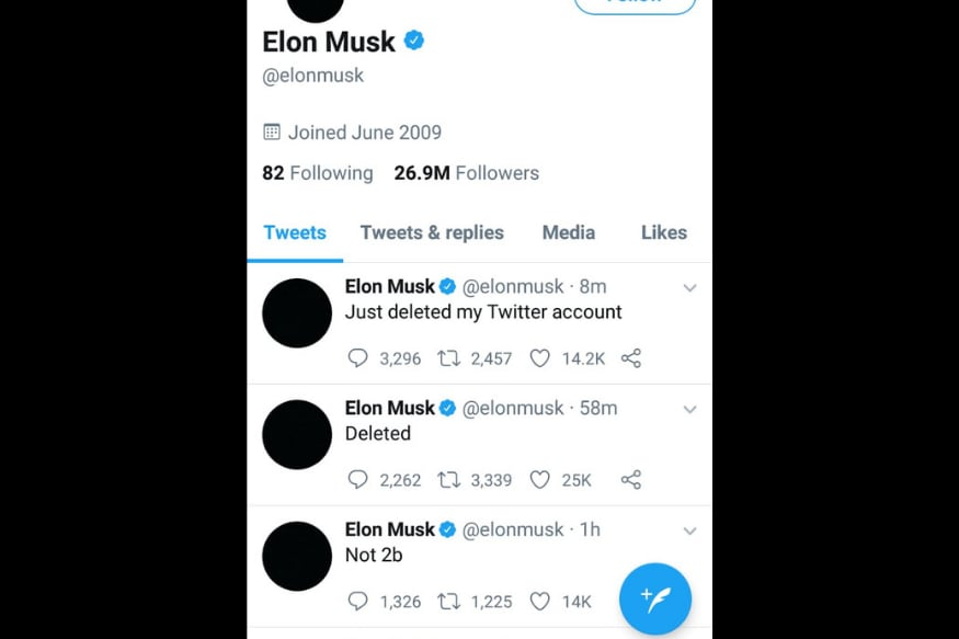 Elon Musk Deletes His Twitter Account in Unexpected Move