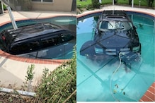 Watch: Driver Takes 'Carpooling' Too Seriously, Ends Up Diving Into a Pool