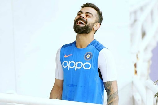 Virat Kohli seen in a light-hearted mood ahead of India's World Cup opener.