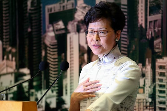 File image of Hong Kong Chief Executive Carrie Lam. (Image: Reuters)