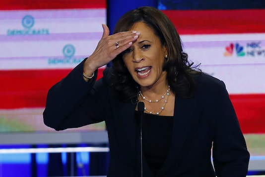 File photo of Kamala Harris. (AP/Wilfredo Lee)