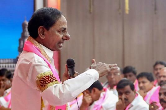 File photo of TRS president and Telangana chief minister Chandrashekar Rao. (PTI)
