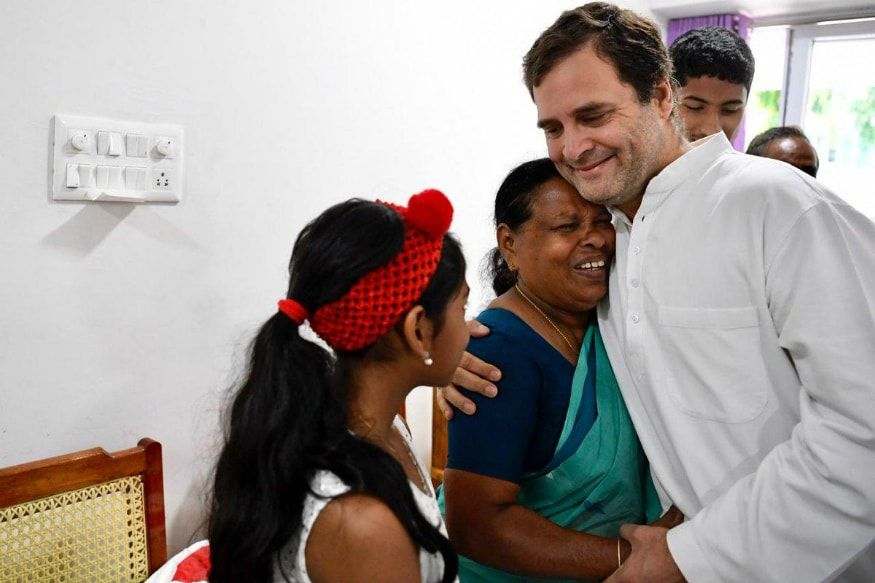 On Thanksgiving Visit to Wayanad, Rahul Gandhi Meets Nurse Who Held Him as a Baby