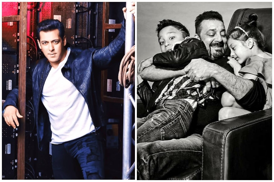Salman Khan, Sanjay Dutt Celebrate Their Real-life 'Heroes' on Father's Day