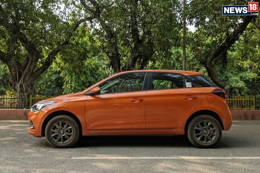 Hyundai Elite i20 side profile. (Image: Manav Sinha/ News18.com)
