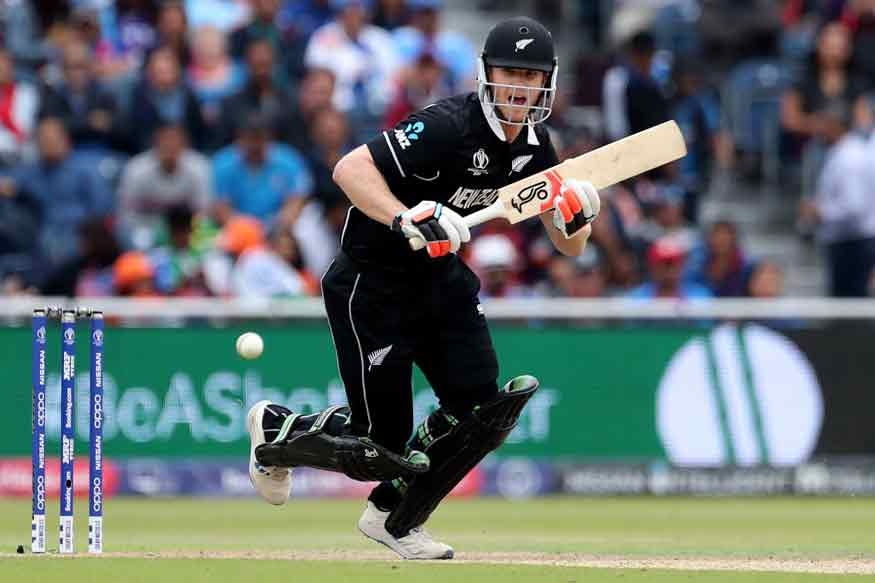 New Zealand's James Neesham reacts after playing a shot during the Cricket World Cup semi-final match between India and New Zealand in England. (Image: AP)