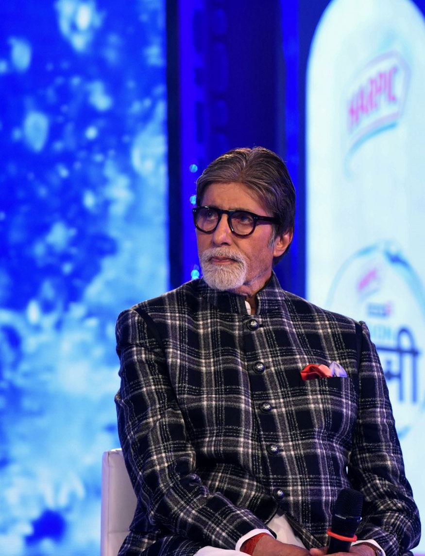 Amitabh Bachchan during the launch of Mission Paani Campaign in Mumbai. (Image: AFP)