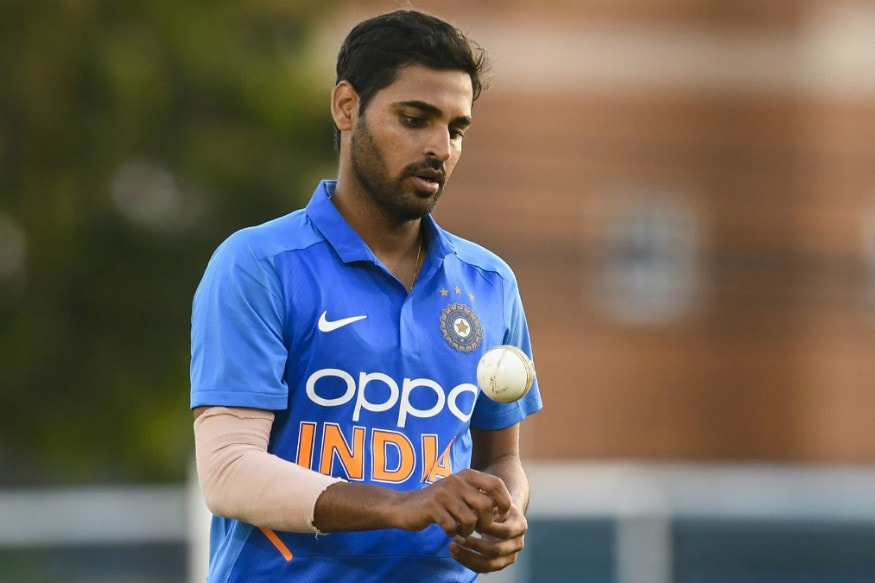India's Bhuvneshwar Kumar in action during the second ODI at Port of Spain. (Pic: AFP)