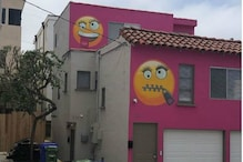 US House Painted with Smiling Emoji Faces; Neighbors 'Unhappy'