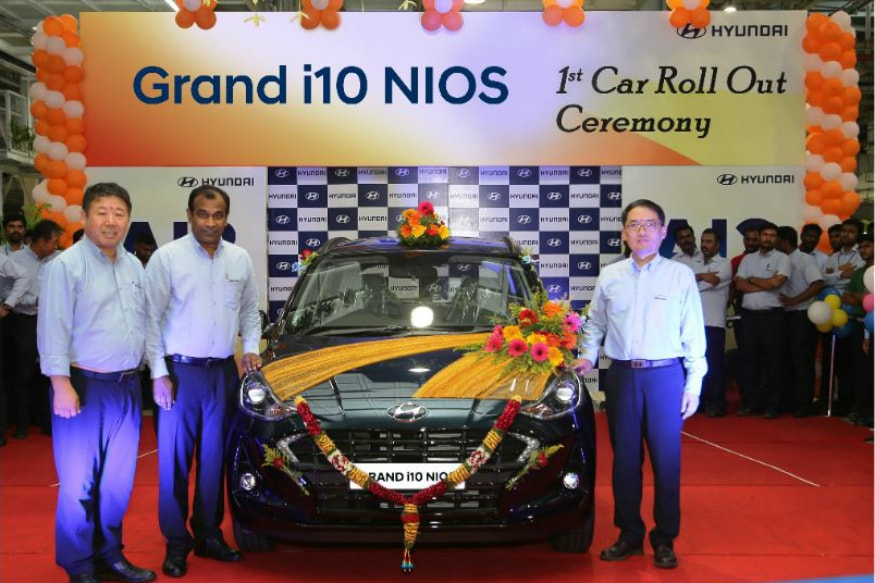 First Hyundai Grand i10 Nios Rolls Out of Production Line in India