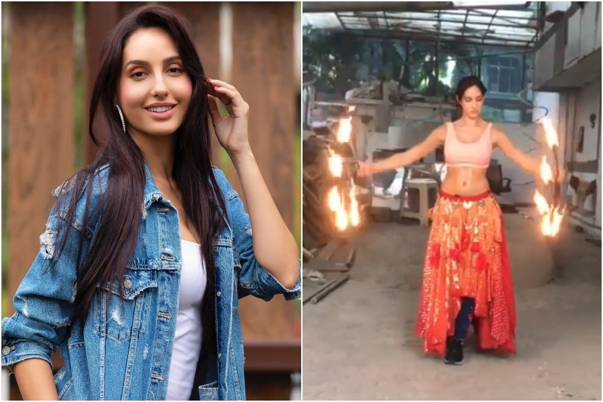 Nora Fatehi Recounts How She Learnt Fire Dancing for O Saki Saki in Fiery BTS Video