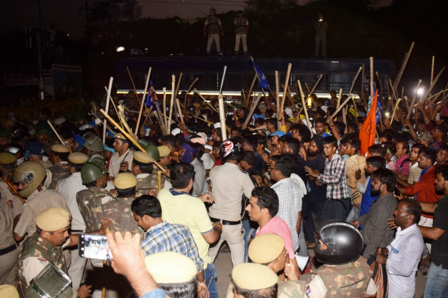 Protest Over Ravidas Temple Demolition Turns Violent in South Delhi, Bhim Army Chief Arrested