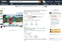 Amazon Freedom Sale: This Samsung 55-inch 4K TV For Rs 59,999 is a Super Deal