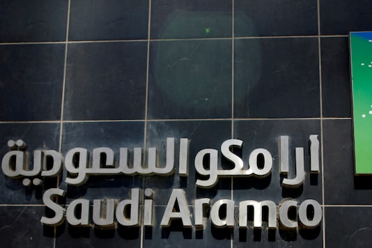 The logo of Saudi Aramco is seen at Aramco headquarters in Dhahran, Saudi Arabia. (Reuters/Ahmed Jadallah/Files)