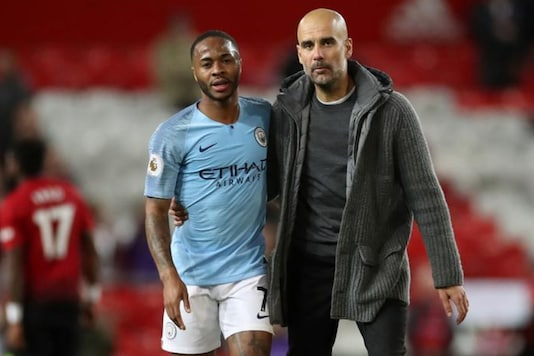 Pep Guardiola and Raheem Sterling (Photo Credit: Reuters)