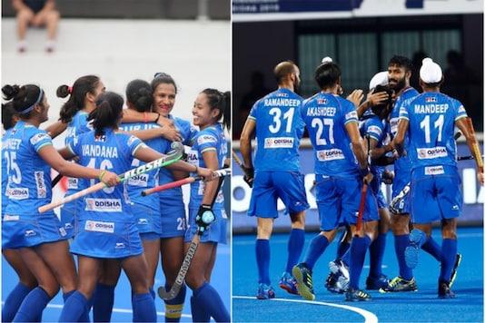 Indian men's and women's hockey teams  (Photo Credit: Hockey India)