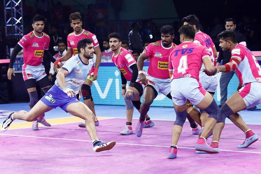 Pro Kabaddi 2019: Tamil Thalaivas vs Jaipur Pink Panthers