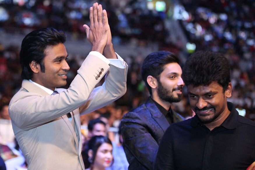 Dhanush and Anirudh Ravichander at the South Indian International Movie Awards (SIIMA) 2019 held in Doha, Qatar. (Image: Special Arrangement)