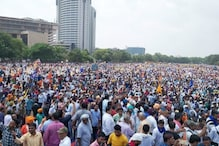 Sea of Blue at Delhi's Ramlila Maidan as Thousands Protest Demolition of 'Ravidas Mandir'