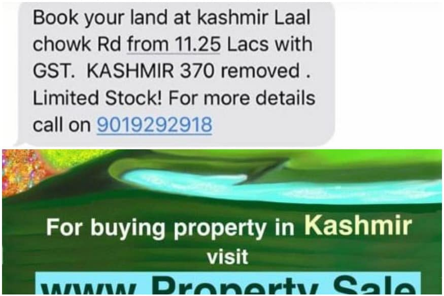 Image result for Fake News Alert: Messages of Land and Property Sale in Jammu and Kashmir Are Scams