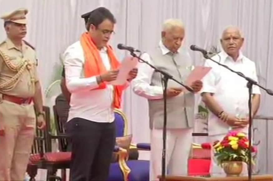 Independent MLA H Nagesh, 16 Other Ministers Take Oath as BSY Expands Cabinet After 3 Weeks