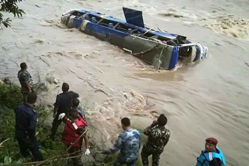 5 Dead, 24 Missing as Kathmandu-bound Bus Plunges into