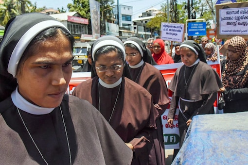 File photo of nuns protesting in Kochi against Bishop Mulakkal.