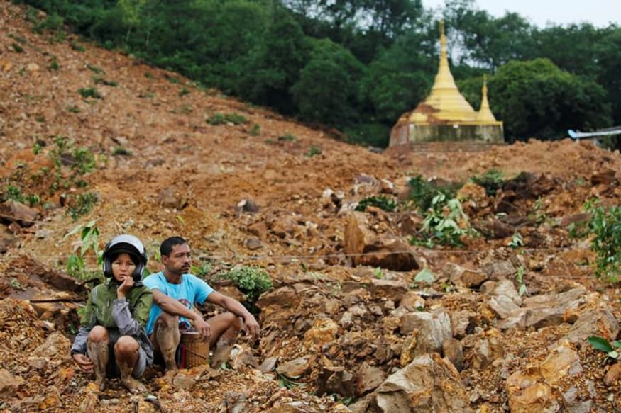 Landslide in Myanmar Kills 48, Troops Deployed for Rescue Operations