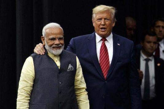 US President Donald Trump and Prime Minister Narendra Modi during the 'Howdy, Modi' Rally. (Image : PTI)