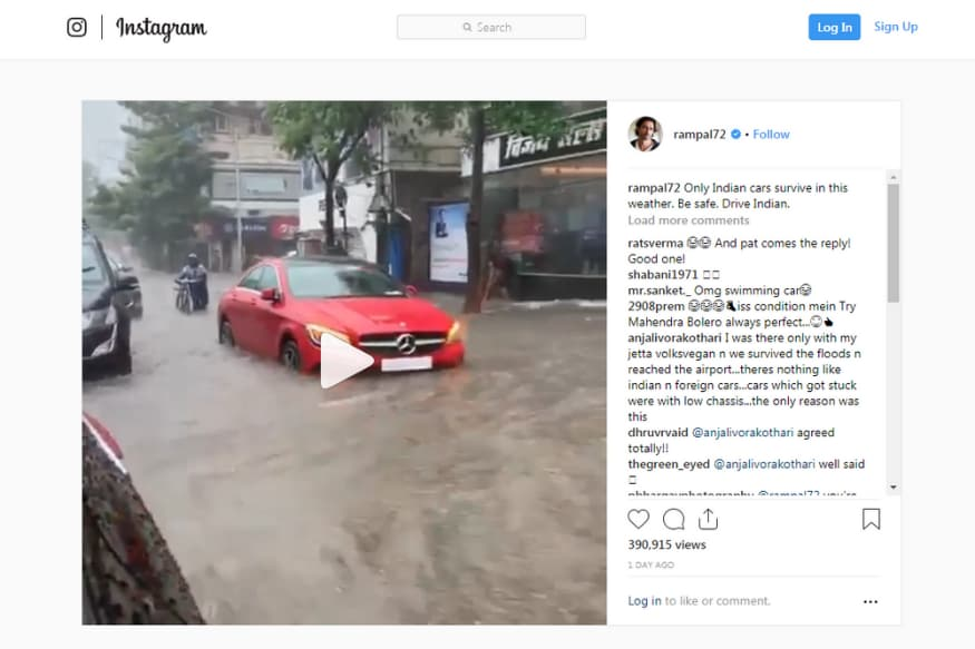 Arjun Rampal Takes to Instagram Saying Only Indian Cars Can
