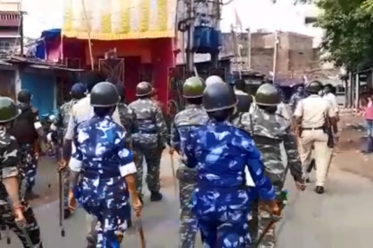 Grab of Police officer during the protest in West Bengal (Image for representation)