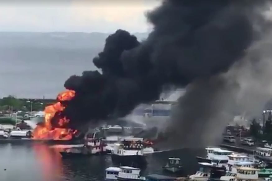 Nine Injured After Fire Breaks Out At Port in Maldives, Cause Uncertain