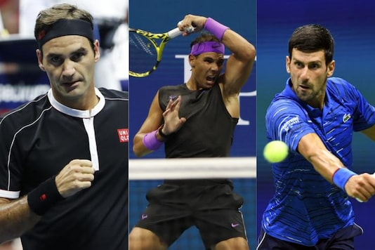 Roger Federer (L), Rafael Nadal (C) and Novak Djokovic. (Photo Credit: Reuters)