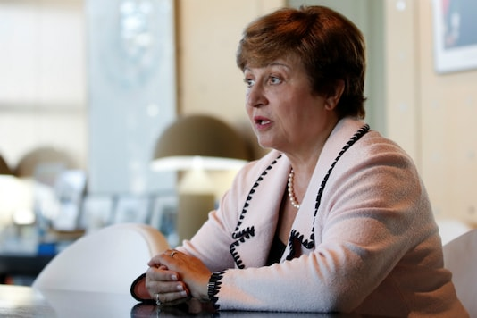 A file photo of IMF chief Kristalina Georgieva.  (Reuters)