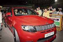 MS Dhoni Spotted Driving His Jeep Grand Cherokee SRT Trackhawk for the First Time