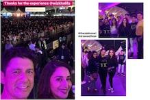 Madhuri Dixit's Brush with Rappers Wiz Khalifa, Raja Kumari at Mumbai Concert
