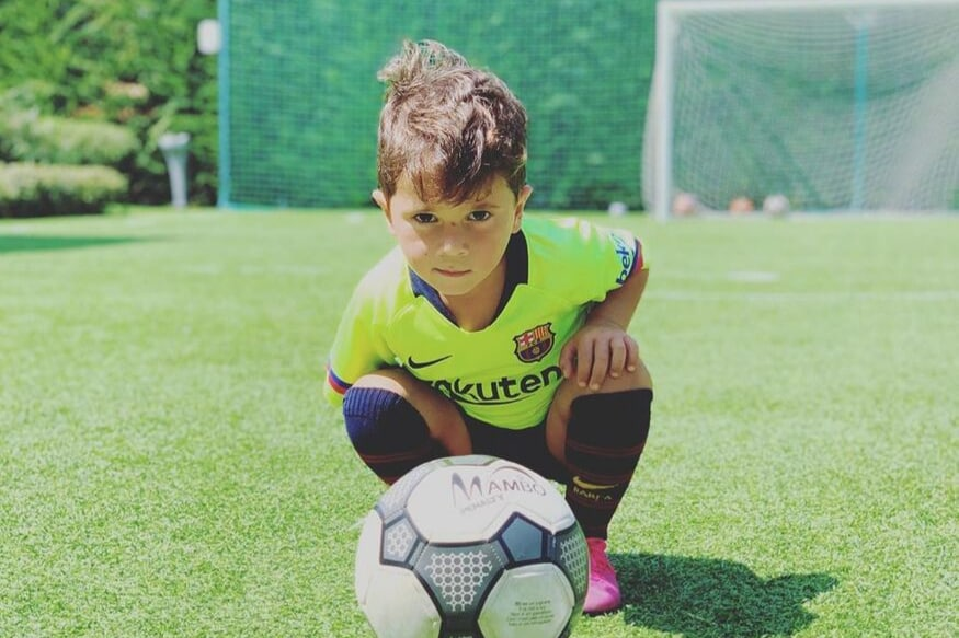 Lionel Messi's Son Scoring a Goal and Mimicking His Iconic Celebration Is Breaking The Internet   Watch