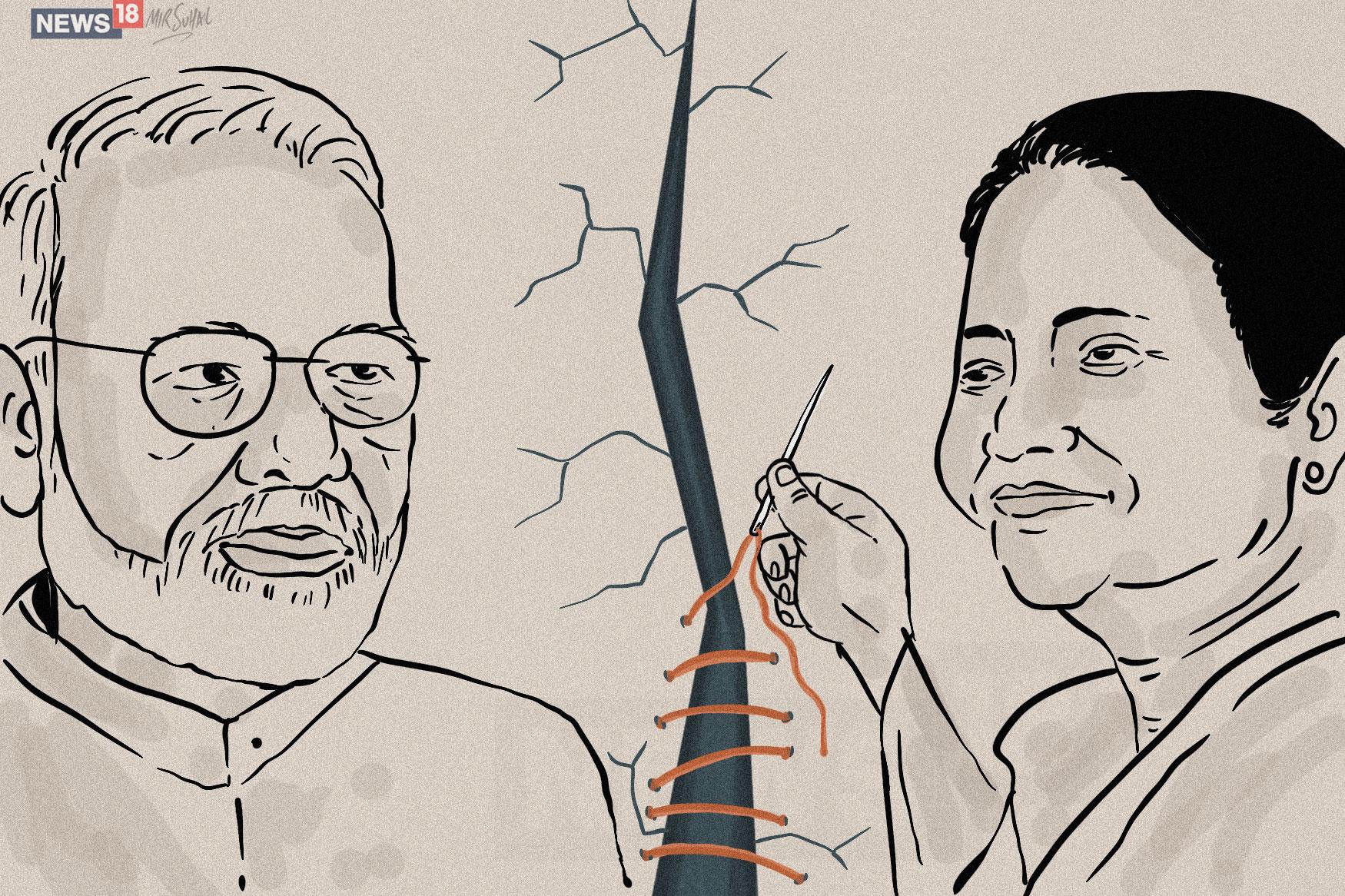 Mumta-meet-Modi-Cartoon