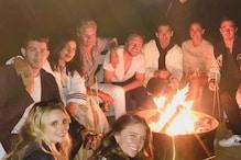 Priyanka Chopra, Nick Jonas Enjoy Bonfire by the Beach with Joe, Kevin Jonas