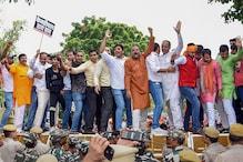 BJP Workers Protest Outside Arvind Kejriwal's Residence Over NRC Remarks