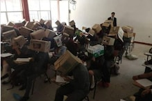 Students Made to Wear Cardboard Boxes Around Their Heads To Prevent Cheating