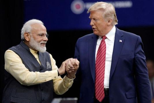 Prime Minister Narendra Modi and US President Donald Trump in Houston. (PTI)