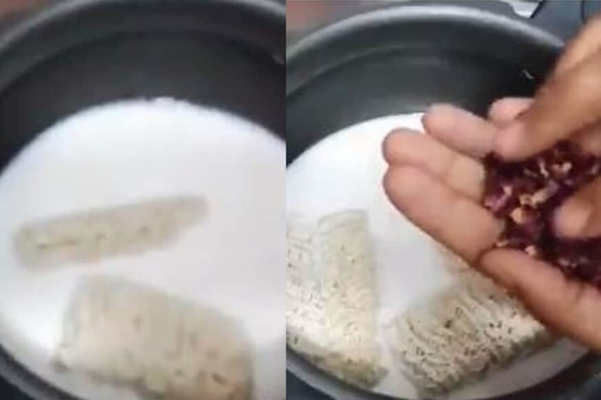 Watch: Sweet Maggi Cooked in Condensed Milk Goes Viral Leaving Twitter in Disgust