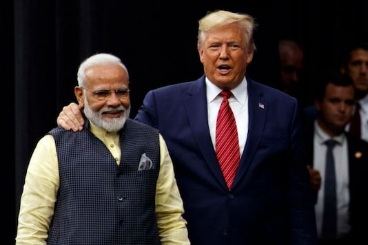 File photo of US President Donald Trump and Indian Prime Minister Narendra Modi