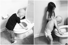 Powerful Photo of Girl Helping 4-Years-Old Brother Undergoing Chemo Has Netizens Choking Up