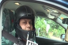 Man Fined for 'Not Wearing Helmet Inside Four-Wheeler'; Now Drives His Car With Helmet as Protest
