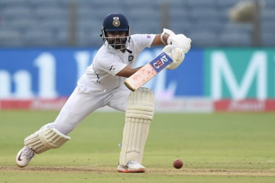 Ajinkya Rahane plays a shot (AFP)