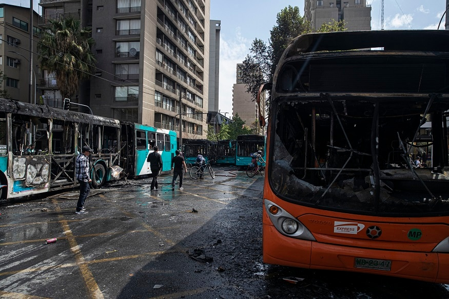 Chile's President Rolls Back Subway Fare Hike Amid Violent Protests by Students